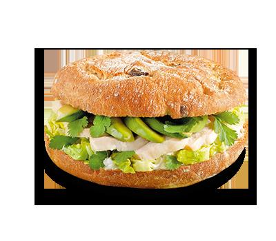 sandwich pain olives cœur de blé