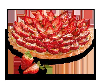 tarte fraises cœur de blé patisserie