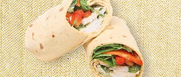 wrap poulet sandwich pause déjeuner